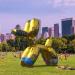 Snapchat And Jeff Koons' AR Sculpture Graffiti-bombed